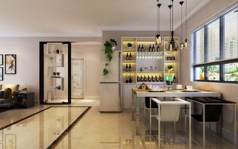 餐厅窗帘现代简约风格装潢图片