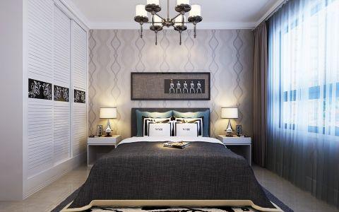 卧室吊顶现代简约风格装饰设计图片