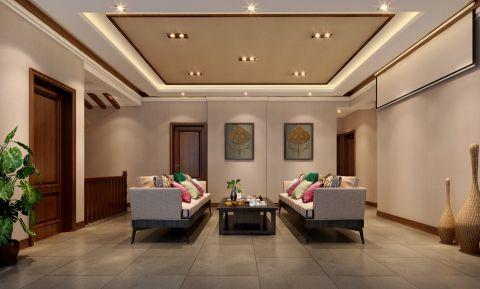 客厅背景墙东南亚风格装修设计图片