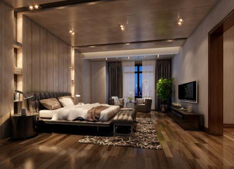 卧室窗帘东南亚风格装潢设计图片
