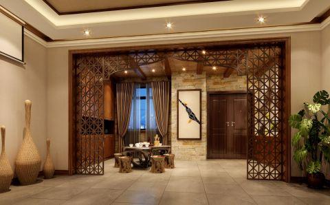 玄关背景墙东南亚风格效果图
