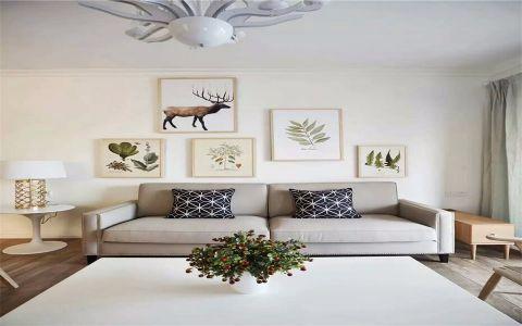 客厅照片墙北欧风格装潢设计图片