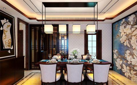 餐厅吊顶新中式风格装饰效果图
