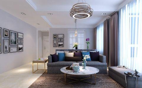 现代简约风格110平米小户型房子装饰效果图