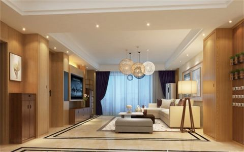 现代风格178平米套房新房装修效果图