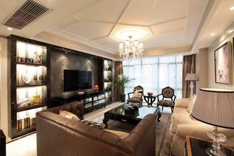 简欧风格120平米大户型房子装饰效果图