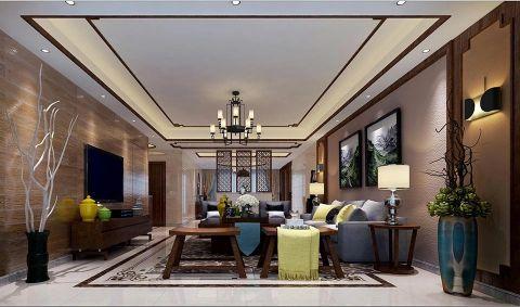 新中式风格280平米大户型房子装饰效果图