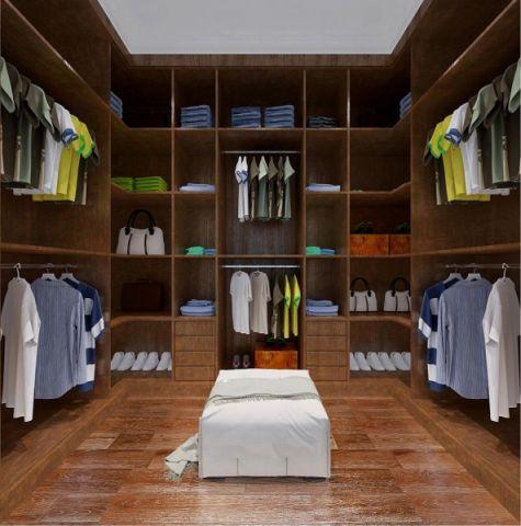 衣帽间橱柜新中式风格装饰效果图