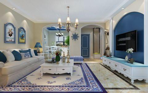 客厅照片墙地中海风格装修设计图片
