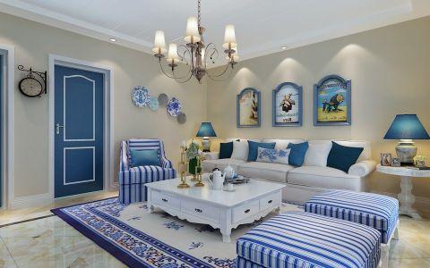 客厅沙发地中海风格装潢设计图片