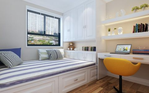 卧室榻榻米地中海风格装饰效果图