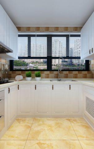 厨房窗帘地中海风格装修图片