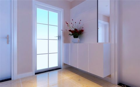 玄关背景墙现代简约风格效果图