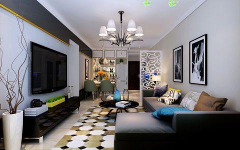 现代简约风格95平米楼房房子装饰效果图