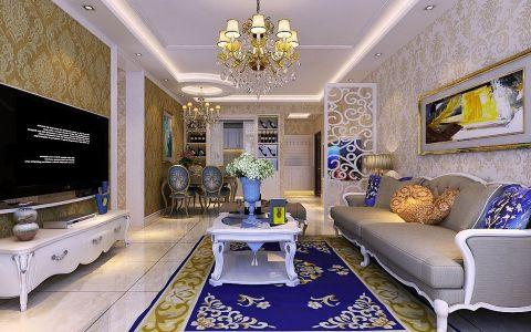 简欧风格130平米大户型房子装饰效果图