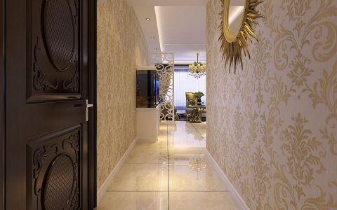 玄关背景墙简欧风格装潢效果图