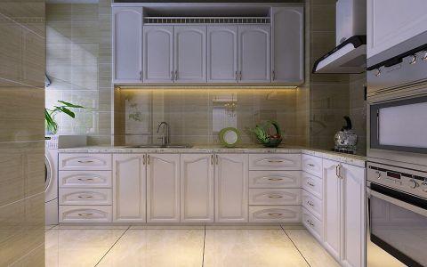 厨房背景墙简欧风格装潢设计图片