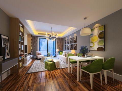 现代简约风格101平米两室两厅室内装修效果图