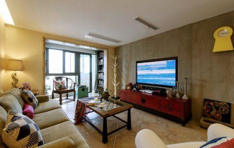 美式风格133平米四房两厅新房装修效果图