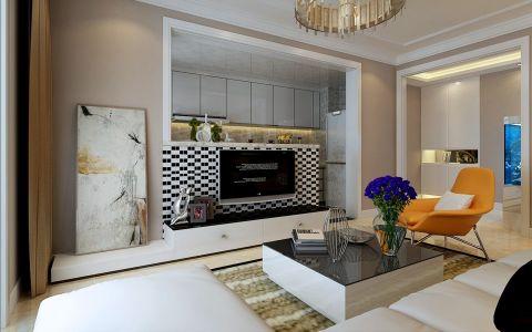 现代简约风格100平米小户型房子装饰效果图