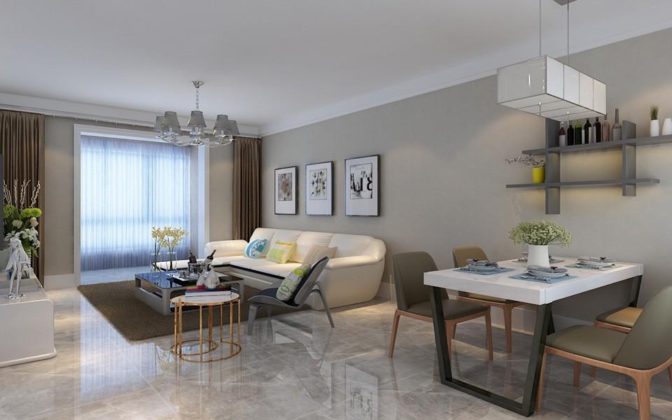 2室1卫1厅93平米现代简约风格