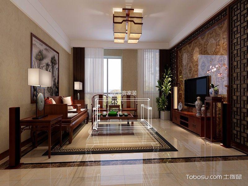 中式风格156平米四室两厅室内装修效果图