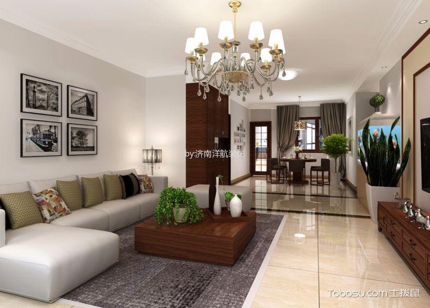 简中风格190平米3房2厅房子装饰效果图