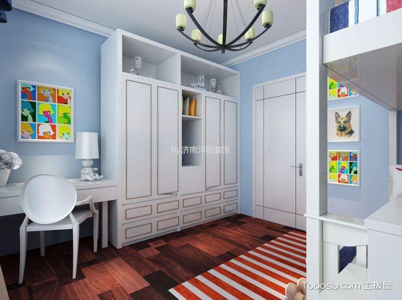儿童房白色衣柜简约风格装饰效果图
