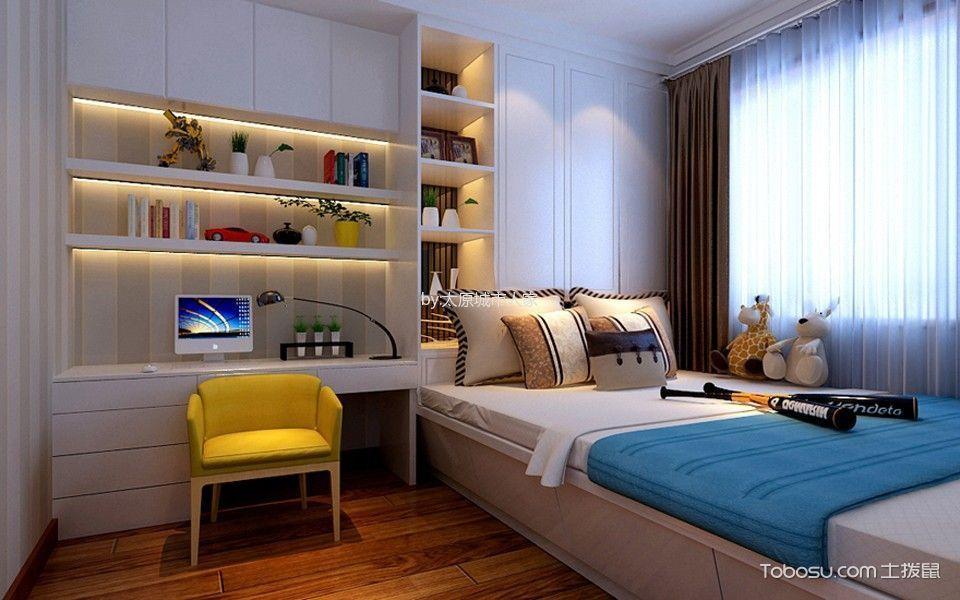卧室白色榻榻米现代简约风格装潢设计图片