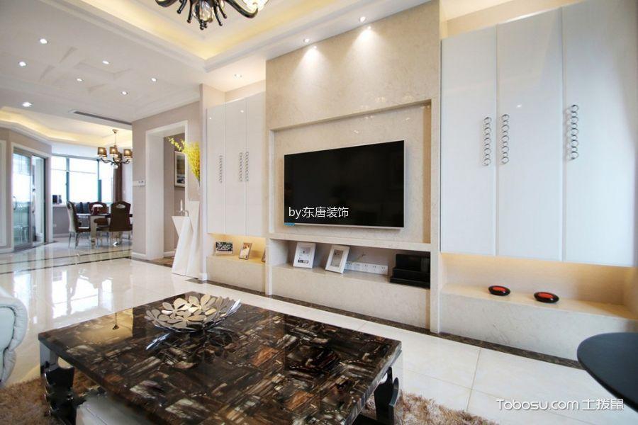 简约风格120平米三房两厅新房装修效果图