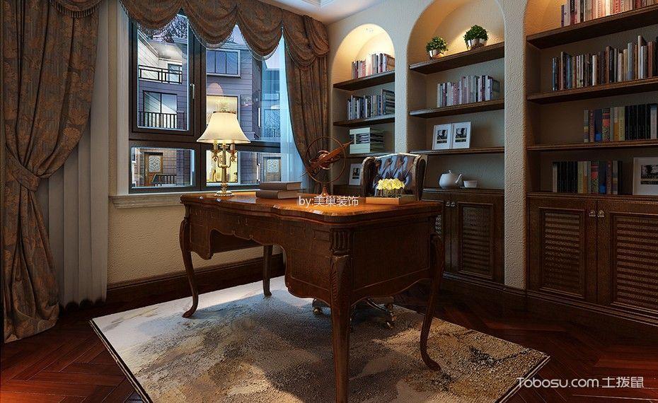 2020美式书房装修设计 2020美式博古架装修图片