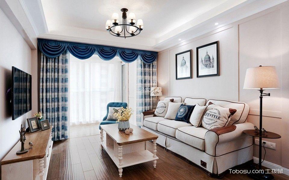 美式风格70平米两房两厅新房装修效果图