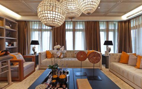新古典风格134平米三室两厅室内装修效果图