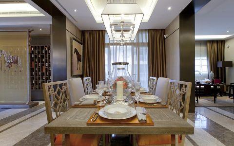 餐厅窗帘新古典风格装修设计图片