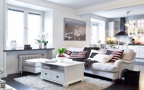 北欧风格140平米三室两厅室内装修效果图