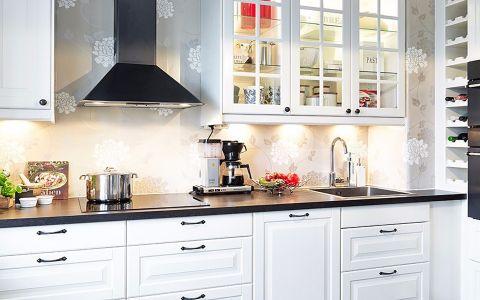 厨房背景墙北欧风格装潢设计图片