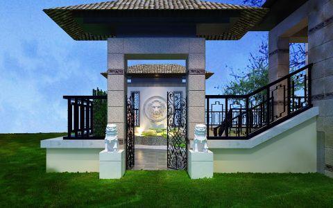 花园楼梯中式风格装潢设计图片