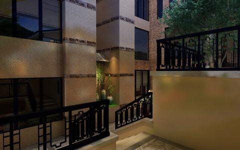 玄关背景墙中式风格装饰效果图