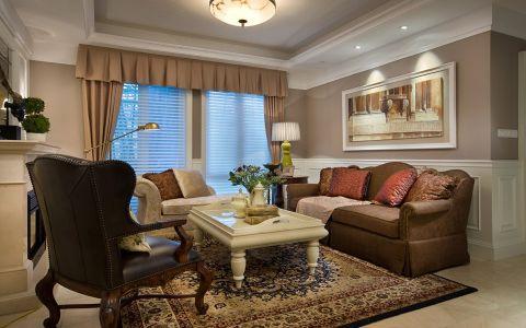 紫金城简约美式三居室装修效果图