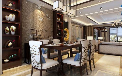 餐厅博古架中式风格效果图