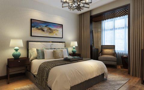 卧室窗帘中式风格装修设计图片