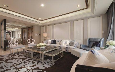 法式风格142平米三室两厅室内装修效果图