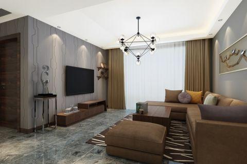 现代简约风格120平米两房两厅新房装修效果图
