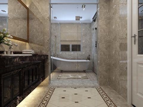 卫生间背景墙新古典风格装潢效果图