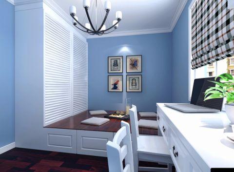 书房背景墙简约风格效果图