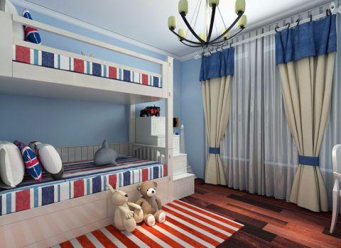 儿童房窗帘简约风格装修效果图