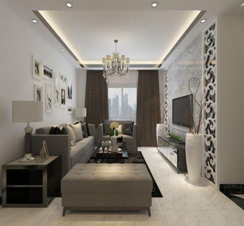 欧式风格85平米两室两厅室内装修效果图