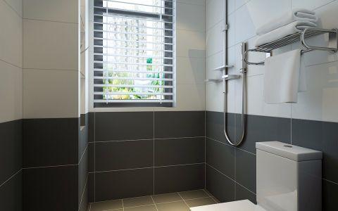 卫生间窗帘现代简约风格装潢图片