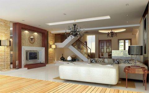 欧式风格222平米跃层房子装饰效果图