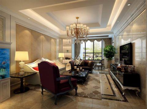 欧式风格136平米大户型室内装修效果图